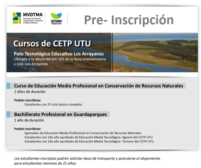 OFERTA EDUCATIVA CONSERVACION GUARDAPARQUES